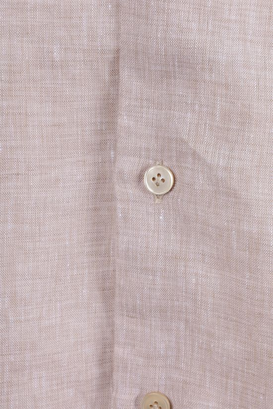 ELEVENTY: regular-fit linen shirt Color Neutral_2