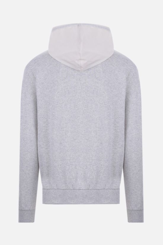 ELEVENTY: technical wool and jersey hoodie Color Grey_2