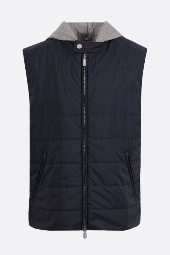ELEVENTY: nylon padded vest Color Blue_1