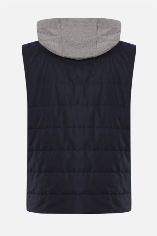 ELEVENTY: nylon padded vest Color Blue_2