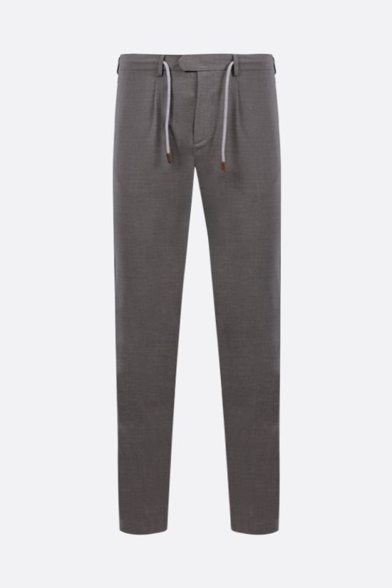 ELEVENTY: slim-fit stretch wool pants Color Grey_1