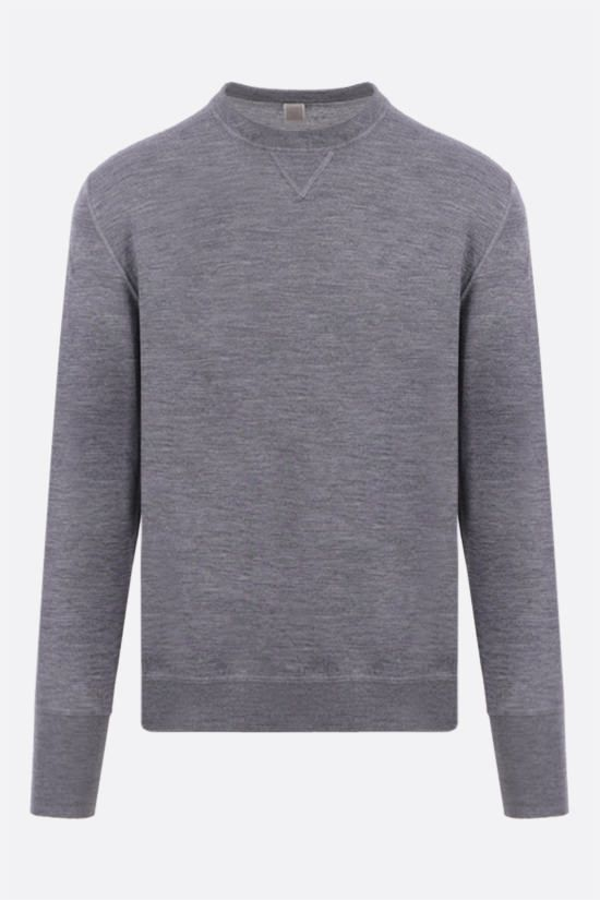 ELEVENTY: combed wool pullover Color Grey_1