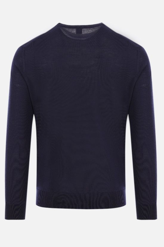 ELEVENTY: wool silk blend pullover Color Blue_2