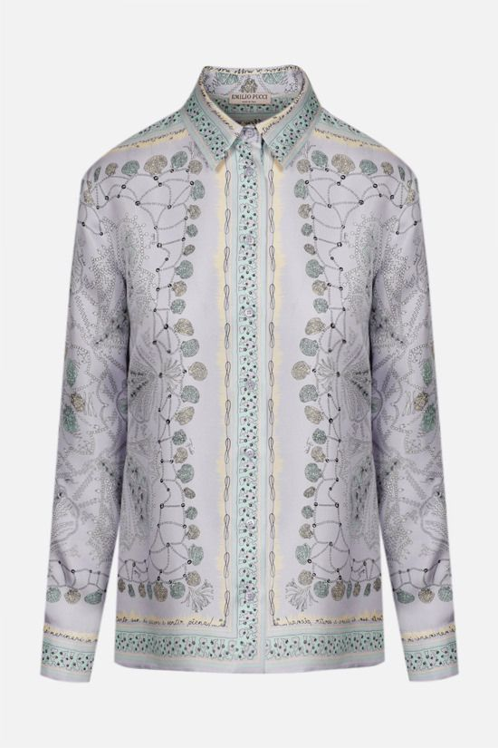 EMILIO PUCCI: seashell print silk shirt Color Purple_1