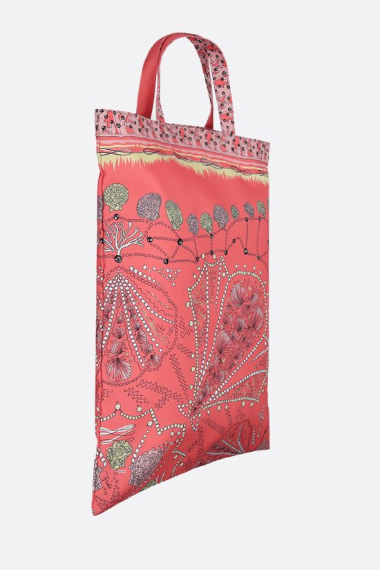 EMILIO PUCCI: seashell print twill tote bag Color Pink_2