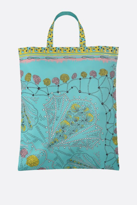 EMILIO PUCCI: seashell print twill tote bag Color Blue_1