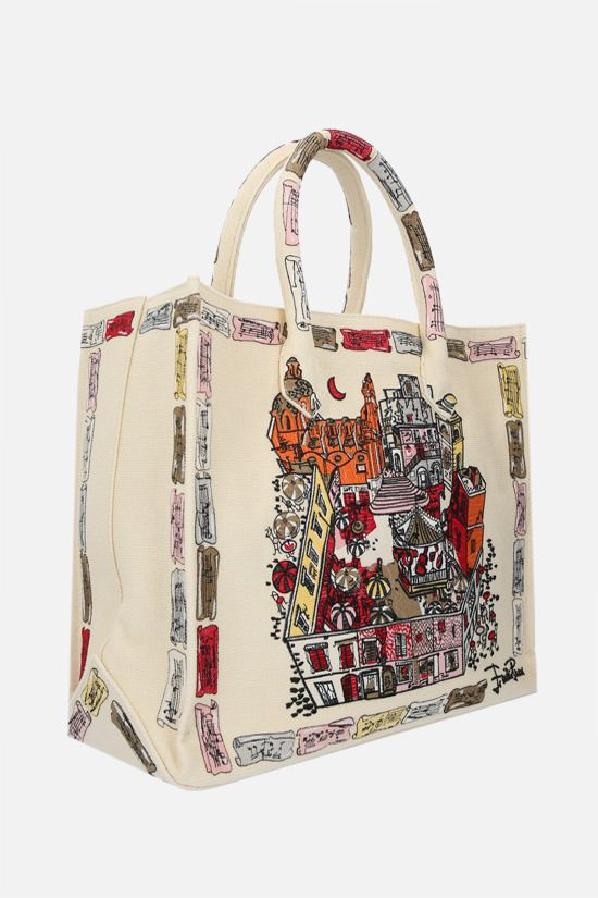 EMILIO PUCCI: Piazzetta di Capri embroidered canvas tote bag Color Multicolor_2