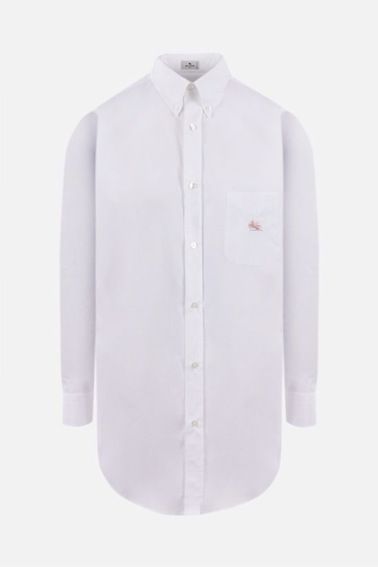 ETRO: Pegaso embroidered oversize cotton shirt Color Multicolor_1