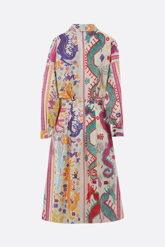 ETRO: naif print cotton shirt dress Color Multicolor_2