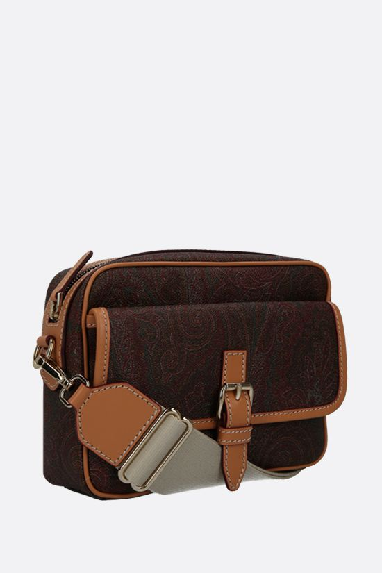 ETRO: coated canvas crossbody bag Color Brown_2