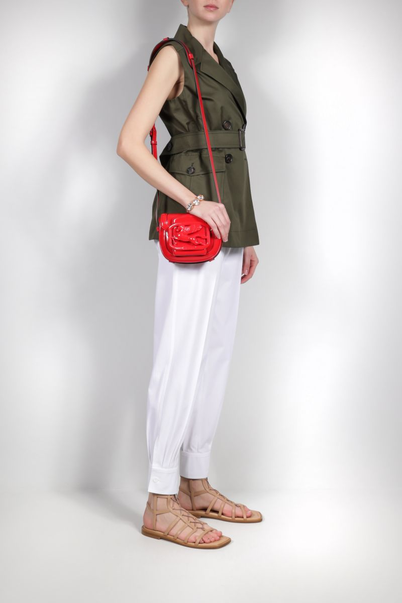 ETRO: Pegaso patent leather crossbody bag Color Red_2