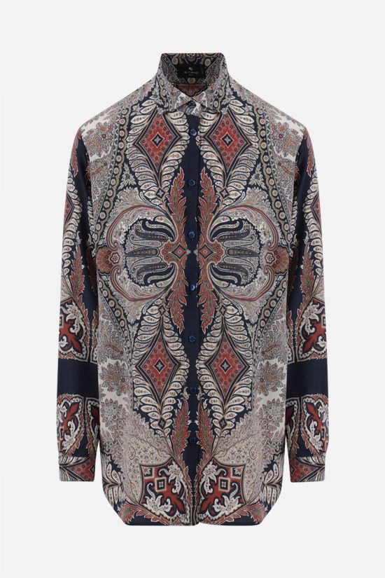 ETRO: paisley print oversize silk shirt Color Multicolor_1