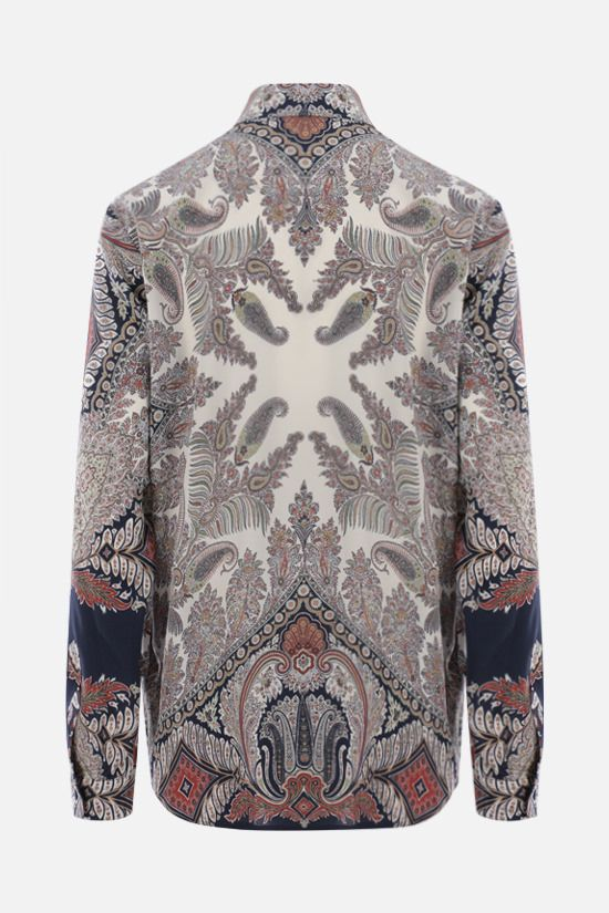 ETRO: paisley print oversize silk shirt Color Multicolor_2
