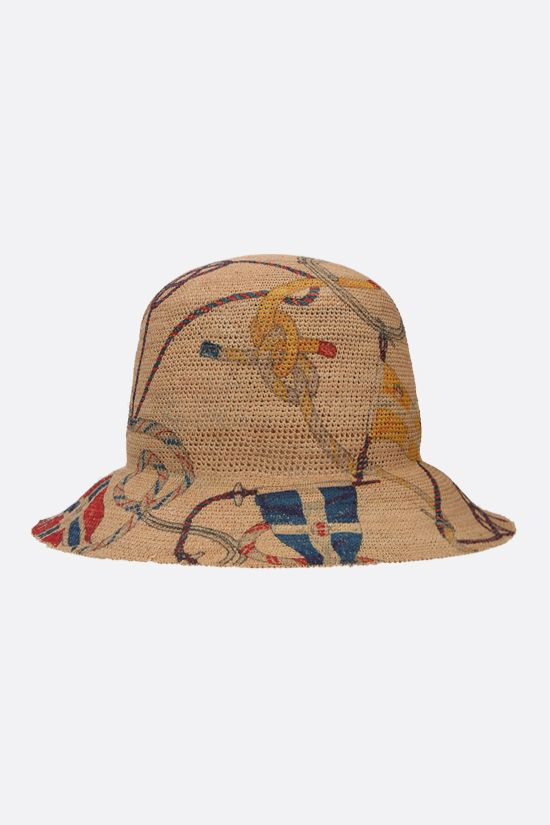 ETRO: Antibes print raffia hat Color Neutral_1