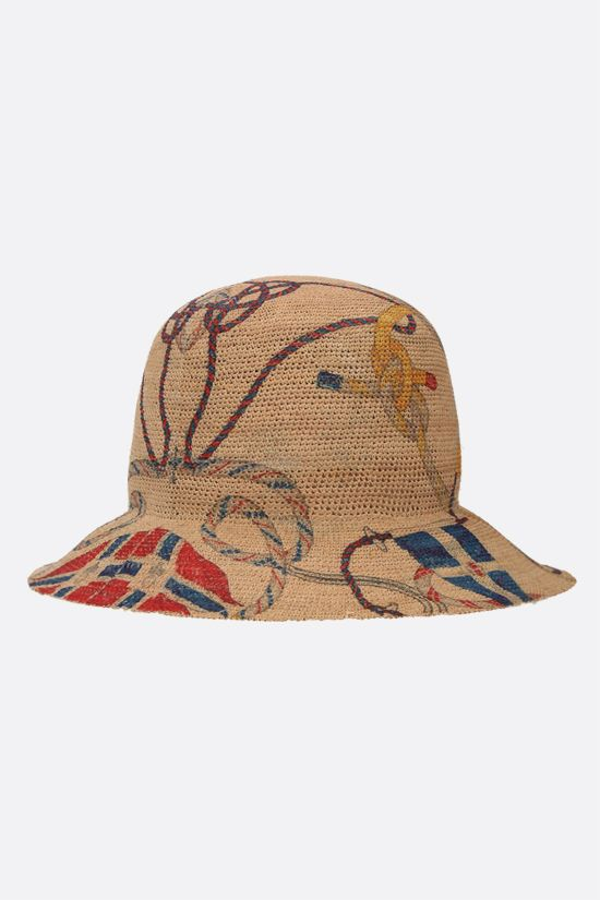 ETRO: Antibes print raffia hat Color Neutral_2