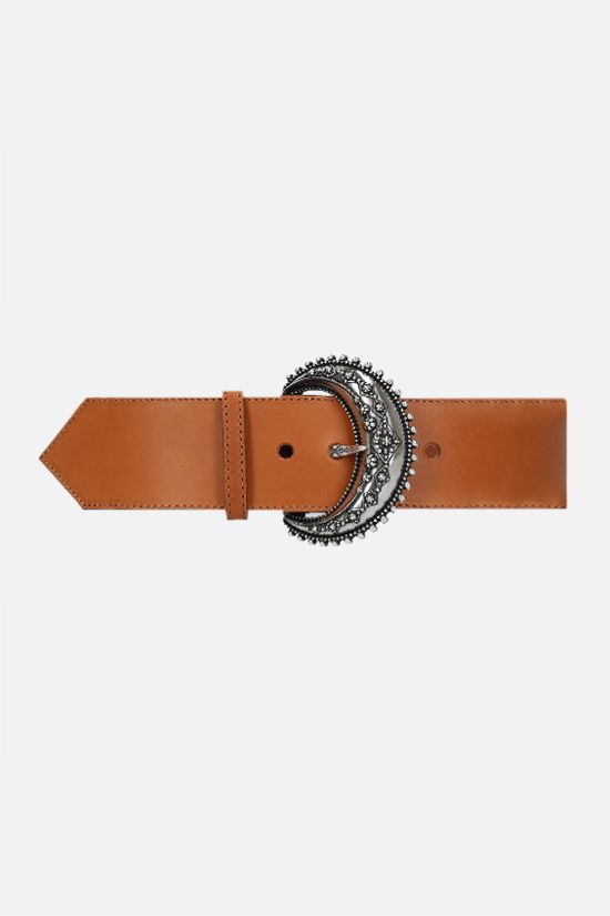 ETRO: smooth leather belt Color Brown_1