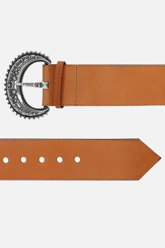 ETRO: smooth leather belt Color Brown_2