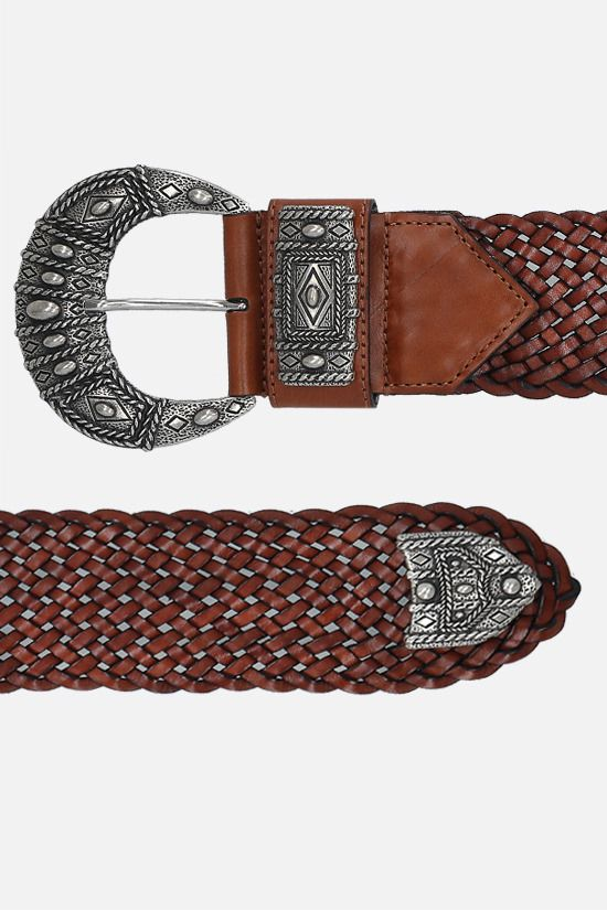 ETRO: woven leather belt Color Brown_2
