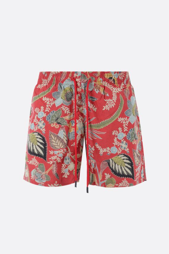 ETRO: floral print nylon swim shorts Color Multicolor_1