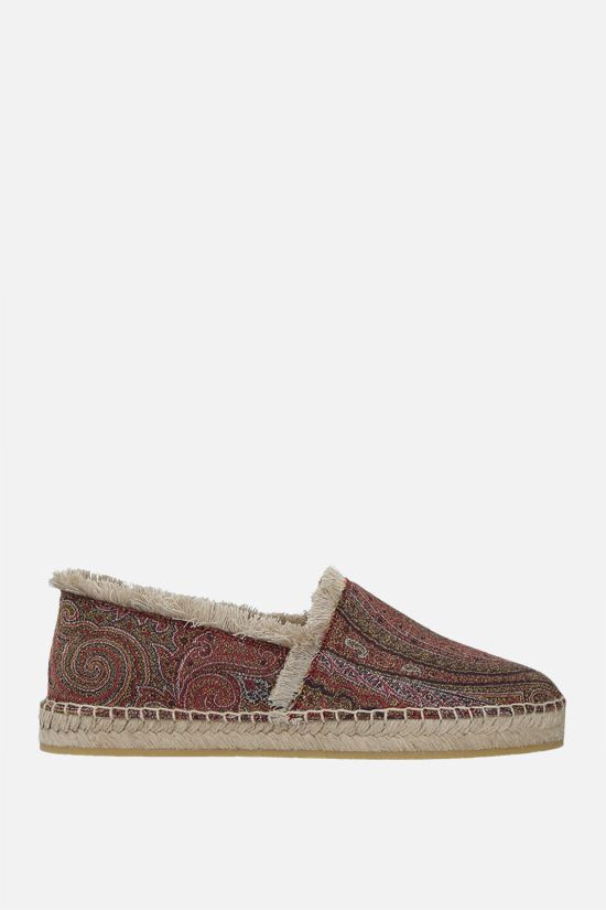 ETRO: espadrilla in canvas a motivo Paisley Colore Multicolore_1
