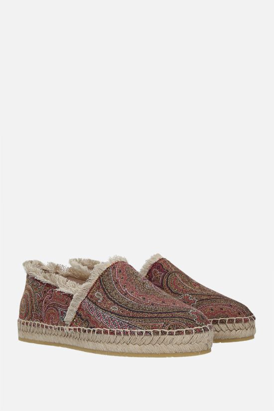 ETRO: espadrilla in canvas a motivo Paisley Colore Multicolore_2