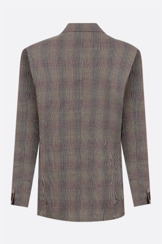 ETRO: prince of Wales single-breasted wool linen blend jacket Color Neutral_2