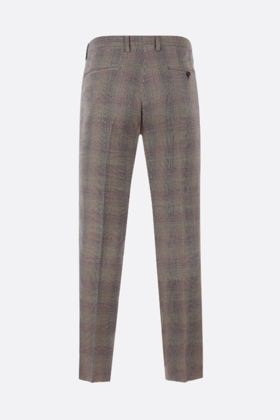 ETRO: pantalone slim-fit in lino e lana principe di Galles Colore Neutro_2