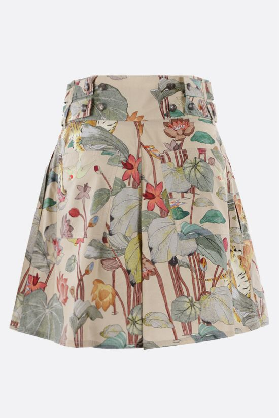 ETRO: tiger and water lily print poplin shorts Color Multicolor_2