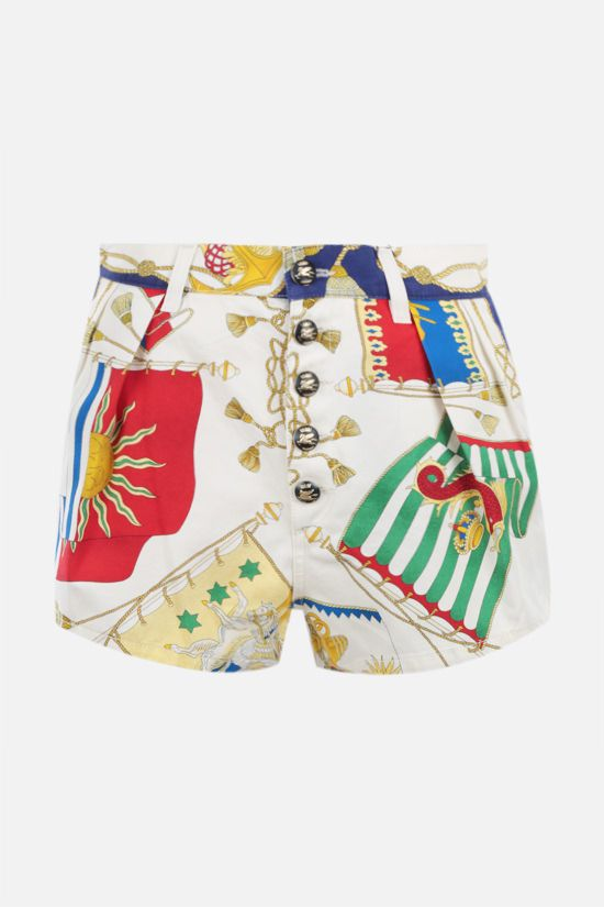 ETRO: nautical print cotton shorts Color Multicolor_1