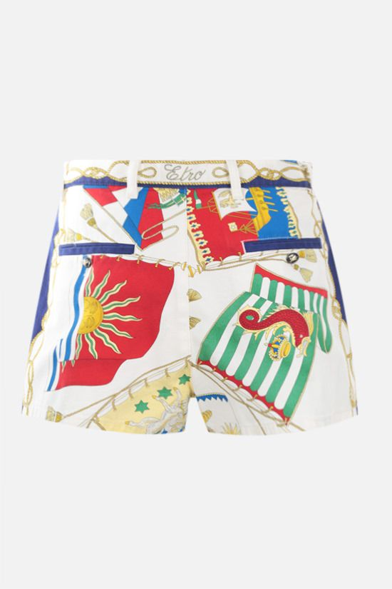 ETRO: nautical print cotton shorts Color Multicolor_2