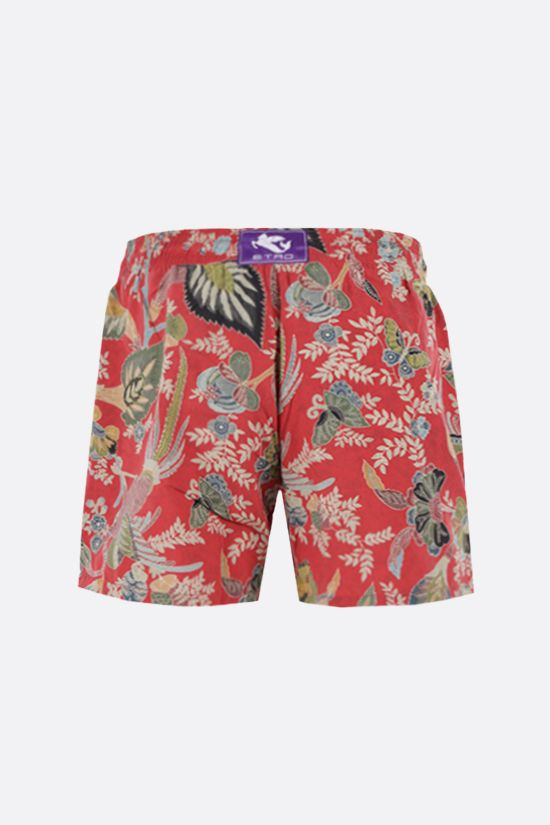 ETRO: floral print nylon swim shorts Color Multicolor_2