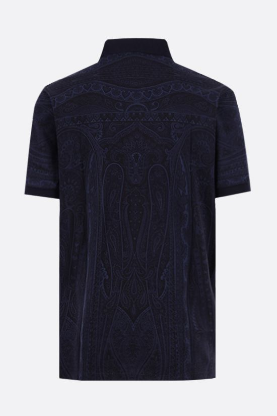 ETRO: paisley print cotton polo shirt Color Blue_2
