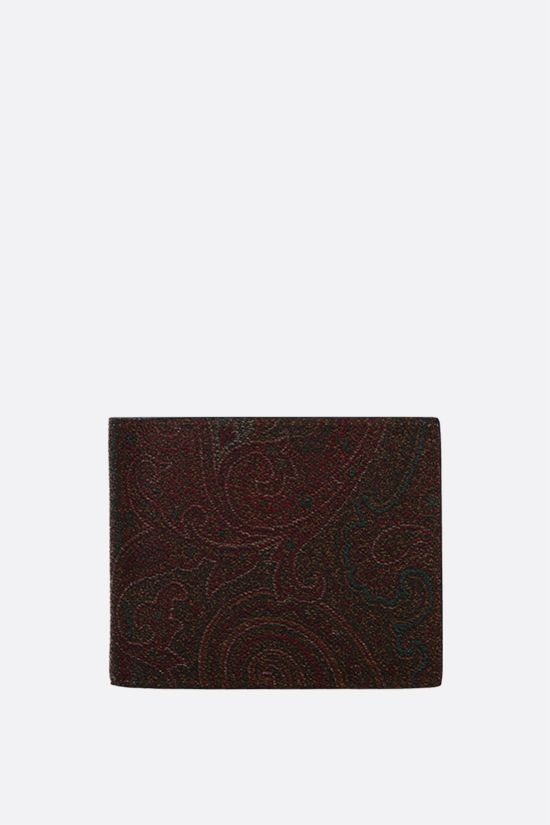 ETRO: coated canvas wallet Color Brown_1