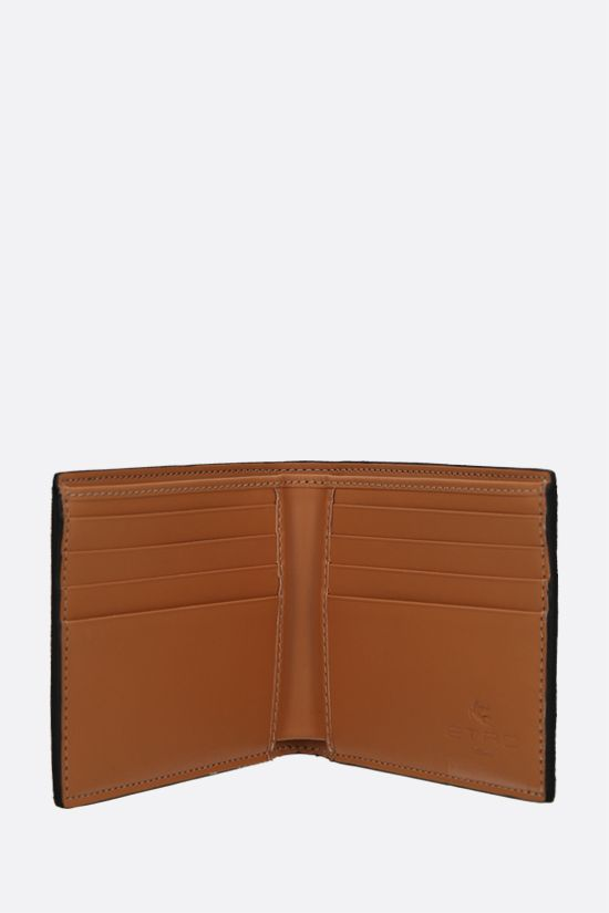 ETRO: coated canvas wallet Color Brown_2
