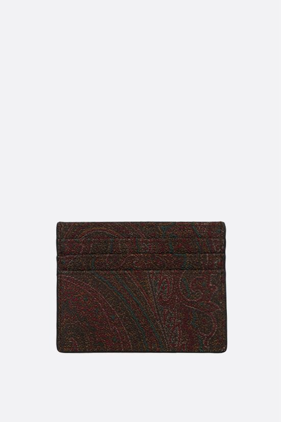 ETRO: porta carte in canvas resinato Paisley Colore Multicolore_1