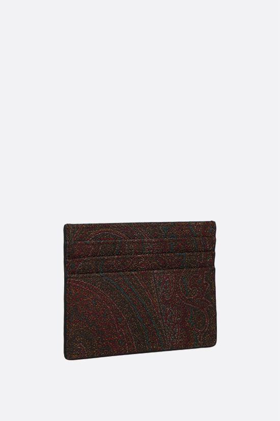 ETRO: porta carte in canvas resinato Paisley Colore Multicolore_2