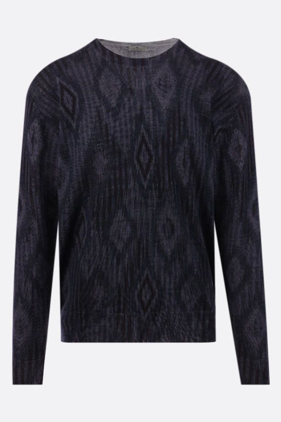 ETRO: carpet motif wool pullover Color Blue_1