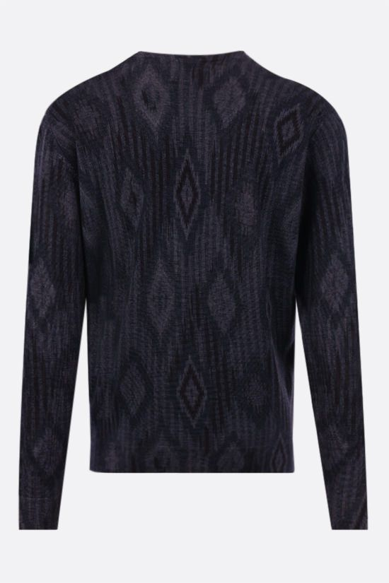 ETRO: carpet motif wool pullover Color Blue_2