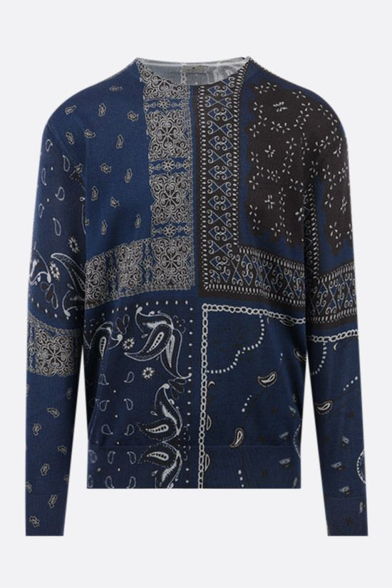 ETRO: patchwork print cotton pullover Color Multicolor_1