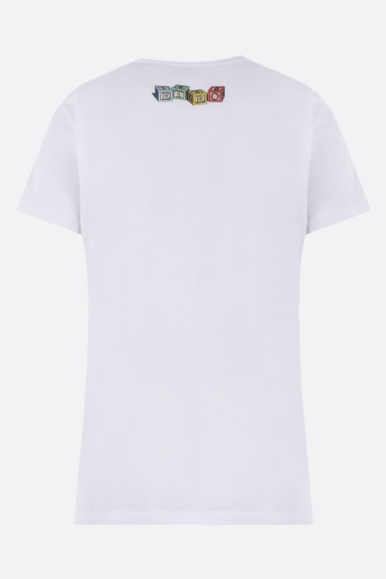 ETRO: t-shirt in cotone stampa Paisley Teddy Bear Colore Bianco_2