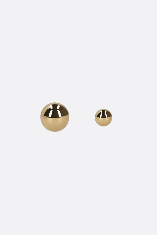FEDERICA TOSI: Lobo Amber brass earrings Color Gold_1
