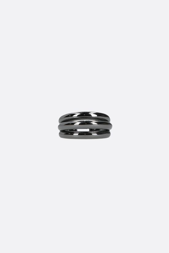 FEDERICA TOSI: Ale small bronze ring Color Black_1