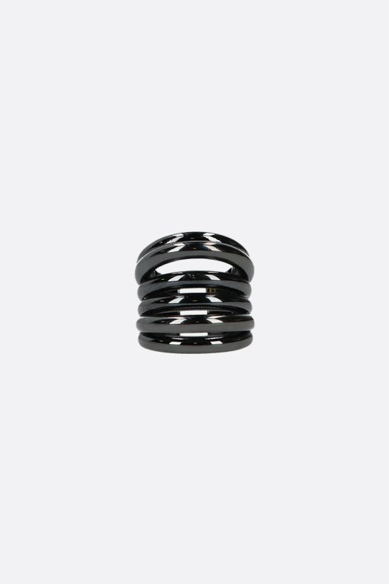FEDERICA TOSI: Ale bronze ring Color Black_1