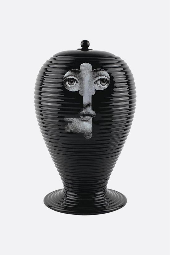 FORNASETTI: Rigato Serratura ceramic vase Color Black_1