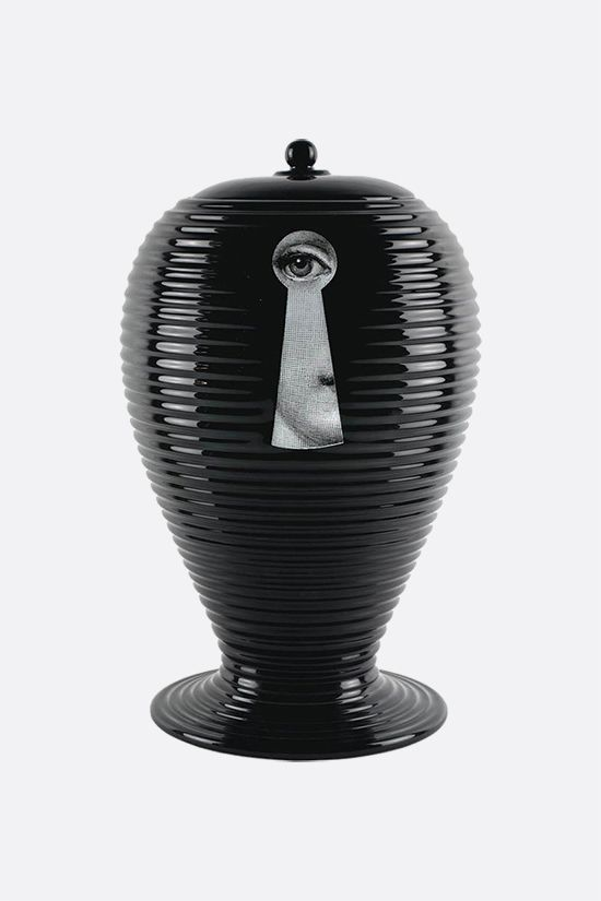 FORNASETTI: Rigato Serratura ceramic vase Color Black_2