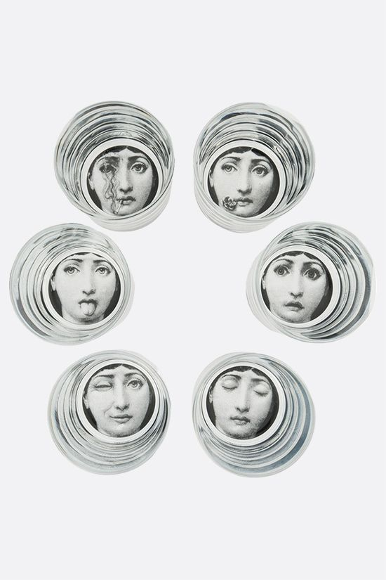 FORNASETTI: set of six Tema e Variazione glasses Color Neutral_1