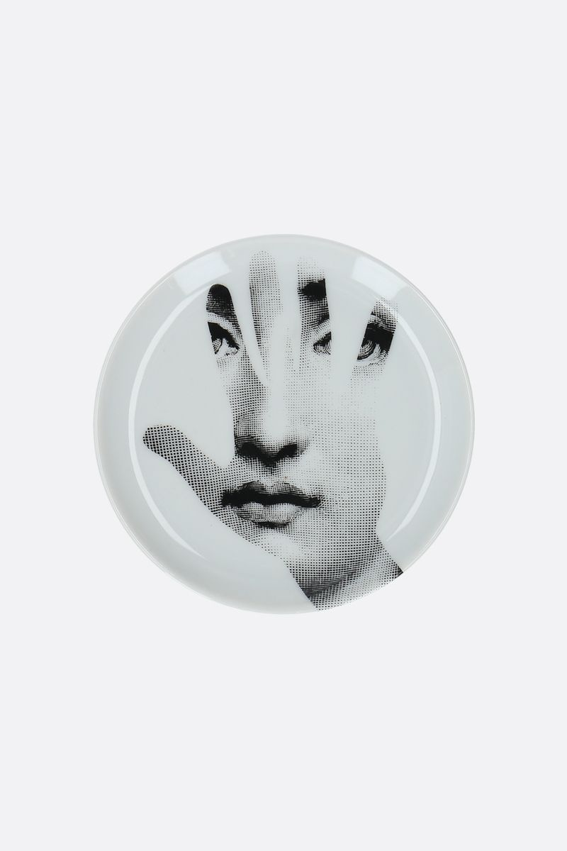 FORNASETTI: Tema e Variazioni N°15 ceramic coaster Color Grey
