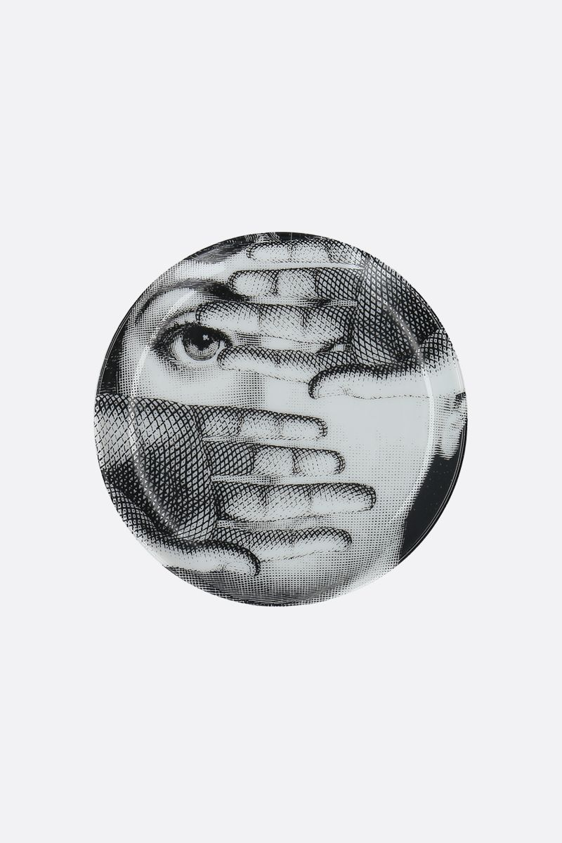 FORNASETTI: Tema e Variazioni N°154 ceramic coaster Color Grey