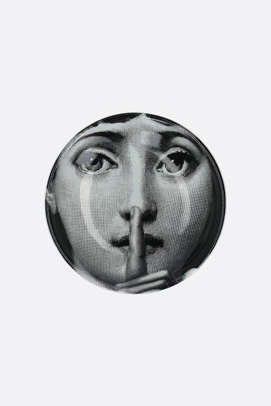 FORNASETTI: Tema e Variazione N°334 ceramic round ashtray Color Grey_1