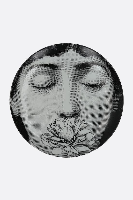 FORNASETTI: Tema e Variazione N° 393 ceramic wall plate Color Grey_1
